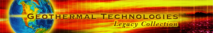 Geothermal Technologies Legacy Collection