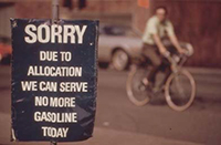 Sorry due to allocation we can serve no more gasoline today