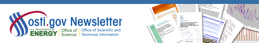 Newsletter for Office of Scientific and Technical Information
