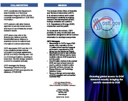 OSTI Mission Brochure