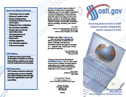 OSTI Search Engine Brochure