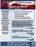 Science.gov Alerts Flyer