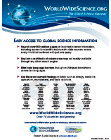 WorldWideScience.org Flyer