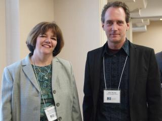 Sharon Jordan, OSTI Assistant Director, and John Kunze, California Digital Libra