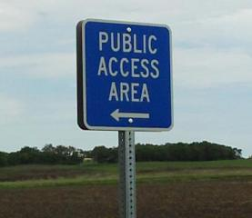 outside sign for public access area