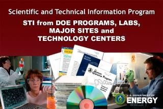 STI from DOE Programs, Labs, MajS