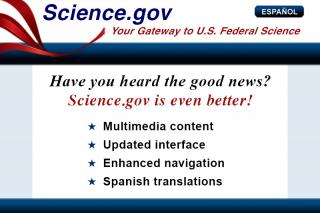Science.gov, multimedia content, updated interface, enhanced navigation, Spanish