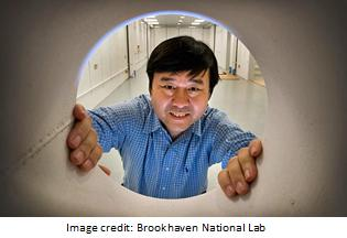 Brookhaven physicist Yong Chu at the National Synchrotron Light Source II looks