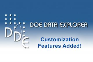 DOE Data Explorer - customization features added!