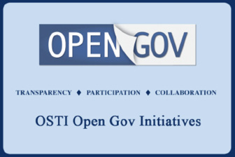 OSTI Open Gov Initiatives