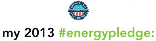 my energy pledge