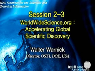 Video of Dr. Walter Warnick's ICSTI 2008 Presentationi