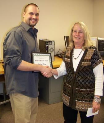 Student Jeff Green recognized with Math, Business and Technology Award