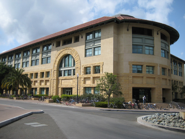 The Gates building is home to Stanford's legendary Computer Science department