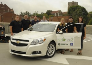 Vehicle Arrives for EcoCAR 2 Competition
