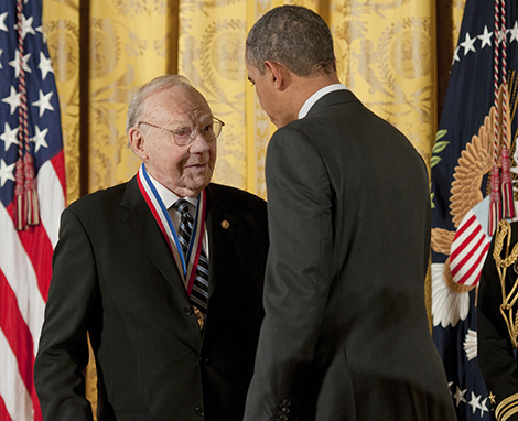 M. Frederick Hawthorne receives National Medal of Science, Image Ryan K Morris