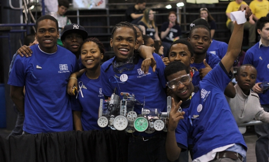 NYU-Poly Mentoring Helps Take Brooklyn Robotics Team to World Finals