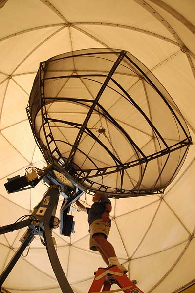 MODIS Antenna used to track two NASA sataellites and acquire Earth's images