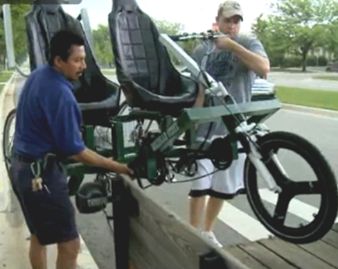 Student engineers construct a humanitarian bicycle built for two