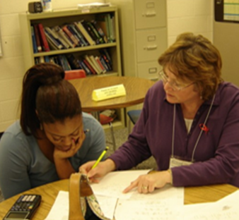 One-on-one tutoring at Pellissippi State's Division Street Campus