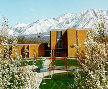 SLCC Administration Building in the spring