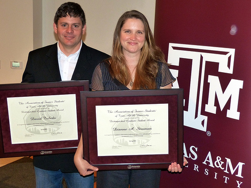 Ecosystem Science and Mgmt students receive distinguished grad student award