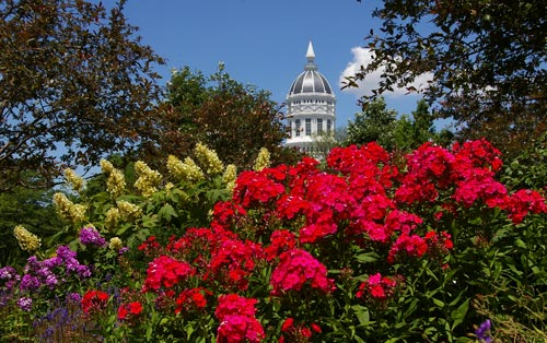 MU's 1,250-acre main campus is designated a botanic garden