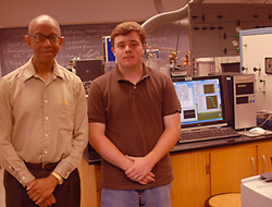 Dover High School Senior George Gallo takes part in hydrogen storage study