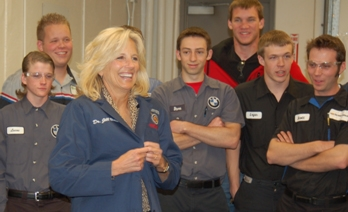 Dr. Jill Biden, wife of U.S. Vice President, visits ACC