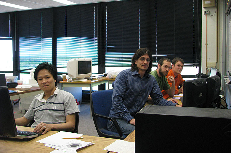UR students sit in MINERvA control room - Fermilab Today archive