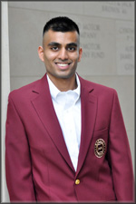 Shahrum Iqbal is first Texas A&M Foundation Trustees' Outstanding Student