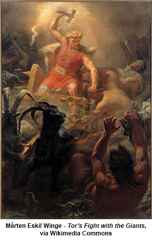 Mårten Eskil Winge - Tor's Fight with the Giants, via Wikimedia Commons