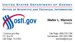 osti.gov Walter L. Warnick, Director