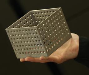 3D printed and perforated metal box