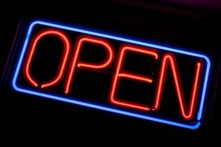 store sign - open