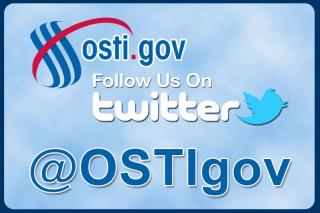 OSTI.GOV: Follow us on Twitter @OSTIgov