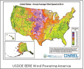 Wind Resource Map of the United States
