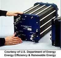 photo of a fuel cell stack