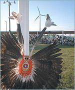 Picture of Choctaw headress on display