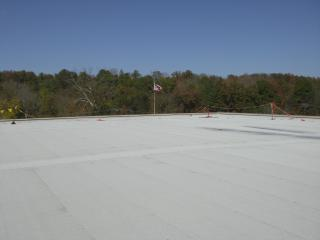 Picture of new cool roof