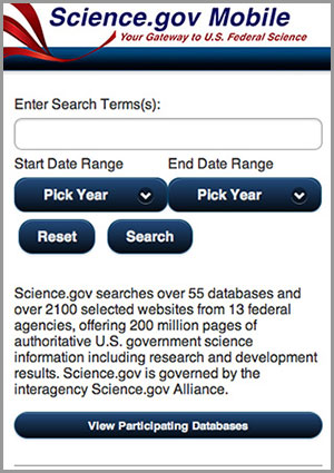 Science.gov Mobile