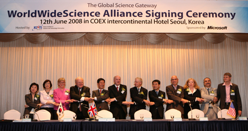 WorldWideScience Alliance Signing Ceremony, June 12, 2008