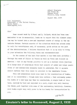 manhattan project einstein s letter  einstein s letter to roosevelt 2 1939