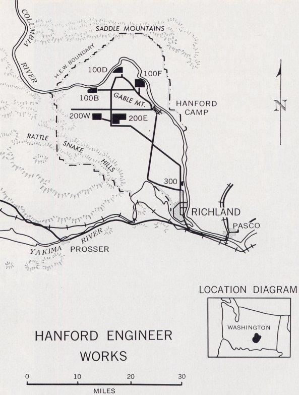 Manhattan Project Hanford map
