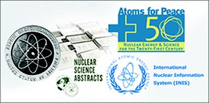 Logos of Atomic Energy Commission (AEC), Nuclear Science Abstracts, Atoms for Peace, International Nuclear Information System (INIS)