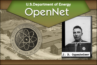 U.S. Department of Energy OpenNet J.R. Oppenheimer
