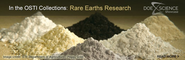 In the OSTI Collections: Rare Earths Research