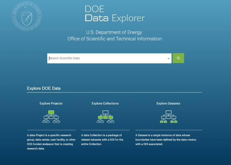 Figure 275987: DOE Data Explorer