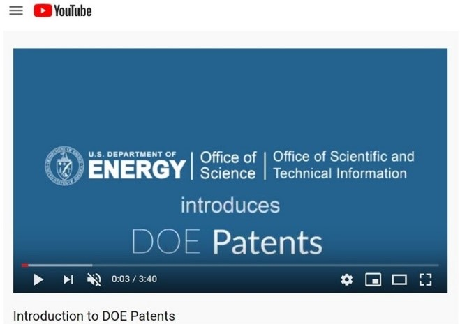 Figure 277500: Preview image of the video titled A Video Introduction to DOE Patents.