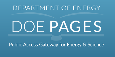 Figure 276495: Department of Energy DOE PAGES Public Access Gateway for Energy & Science